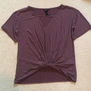 Purple Knotted Tshirt